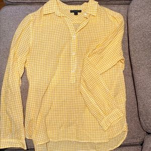 J. Crew Tops - J Crew Gingham Button-Up